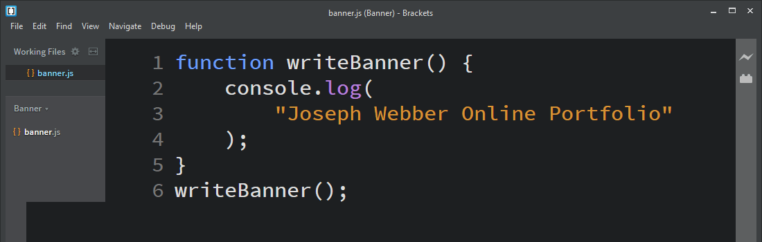 Joseph Webber Online Portfolio