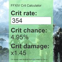 Final Fantasy 14 Crit Calculator
